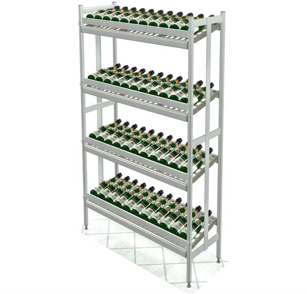 Scaffalature Metalliche Misure Standard.Scaffalature Metalliche Per Vino Italmodular Scaffalature Modulari