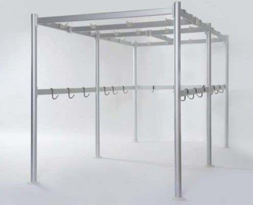 Framework commercial shelving Italmodular