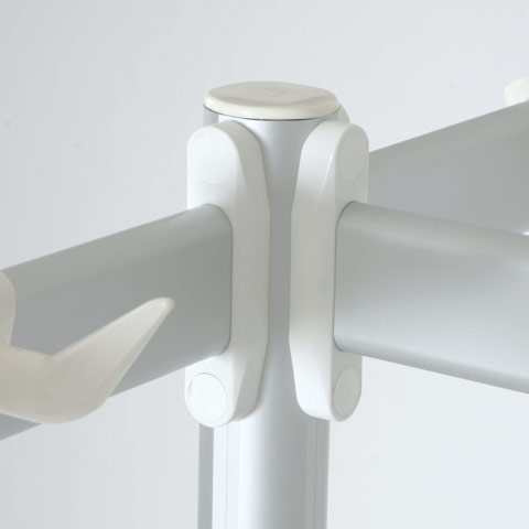 Framework with meat hanging hooks