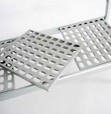 Modular Shelving: Adjustable metal shelving