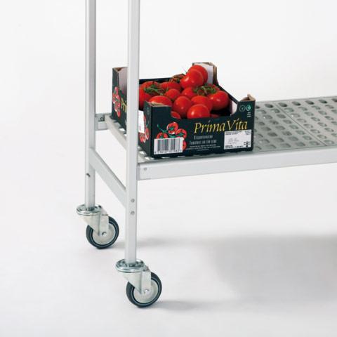 Trolleys: restaurant shelving and rolling shelves