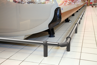 New Protect Line IM97 shopping cart bumper rail