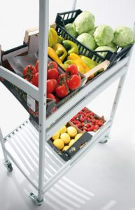 rolling shelves trolleys