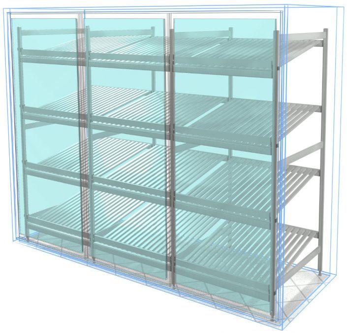 aluminum shelving
