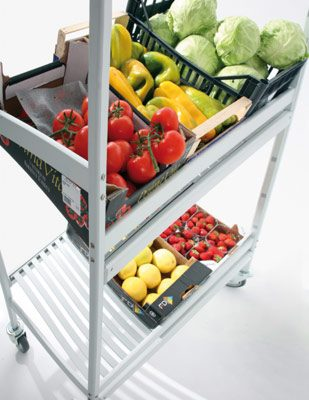aluminum trolley by Italmodular