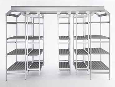 Italmodular cooler shelves - easy compact