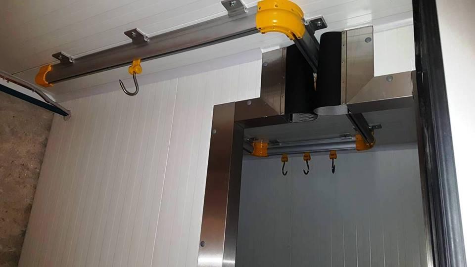 Компактные подвесные пути для полутуш для ресторанов, магазинов и мясных цехов