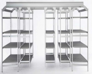 Italmodular modular shelving system steel easy compact