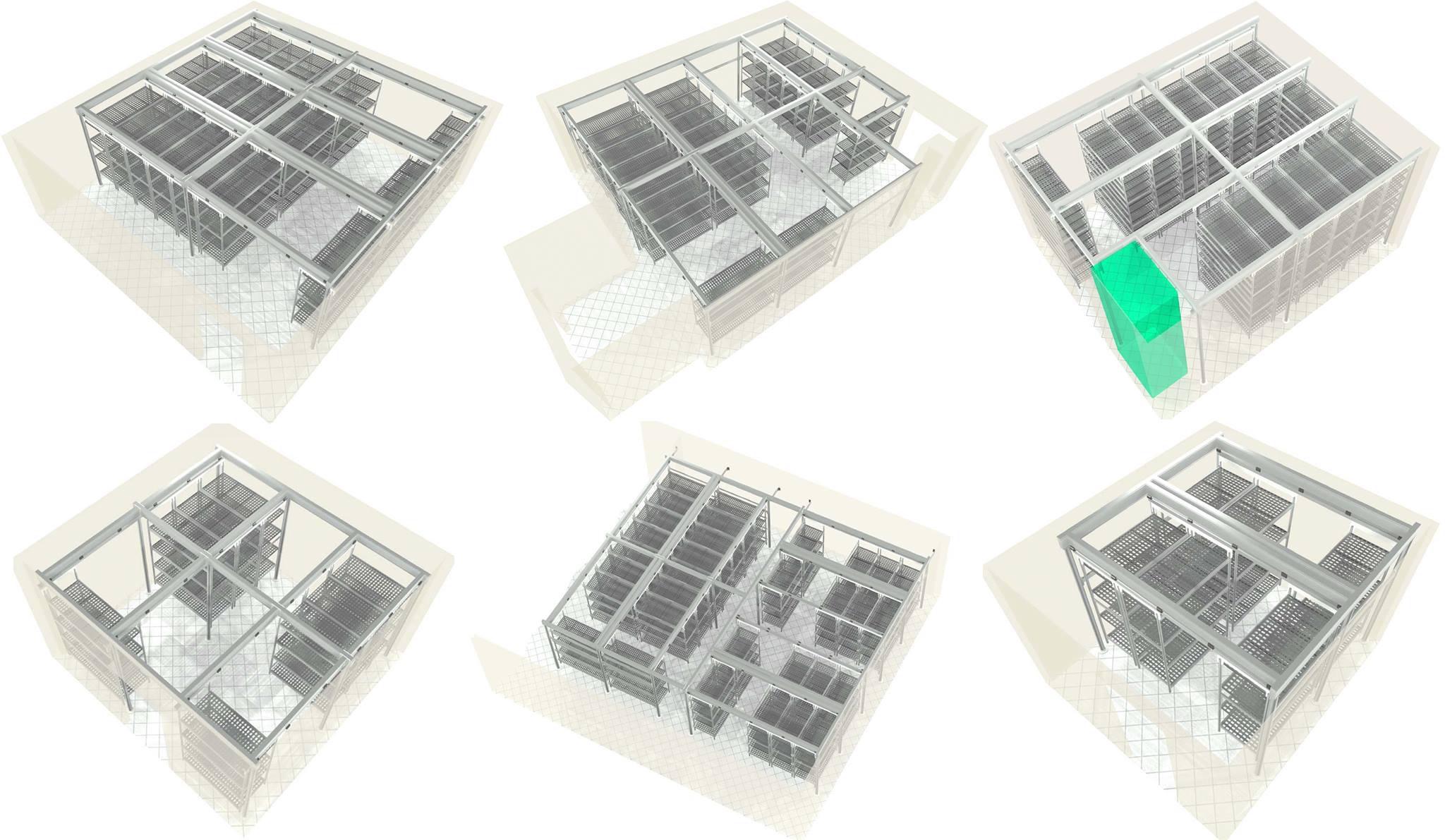 Передвижные стеллажи для складов