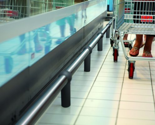 Protecting counters Protect Line - bumper rail
