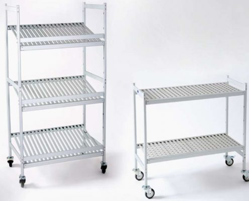 Trolleys - rolling shelves and commercial shelves