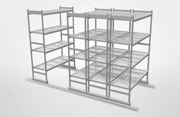 Floor sliding shelving - Adjustable metal shelving and Aluminum Shelves