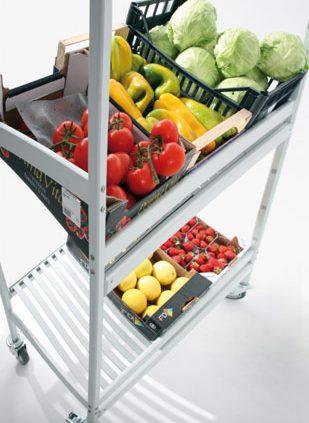 aluminum trolley by Italmodular